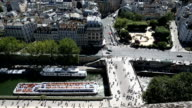 Aerial view from the top of Notre Dame Cathedral