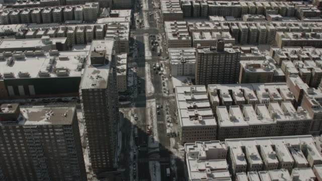 Aerial View Heading Southbound on 7th Avenue in Harlem New York City