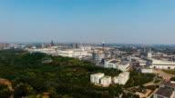 Aerial view industrial park