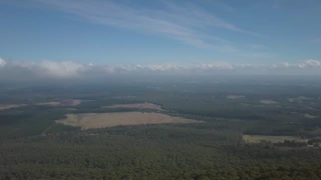Aerial view landscape during autumn, Victoria, Australia