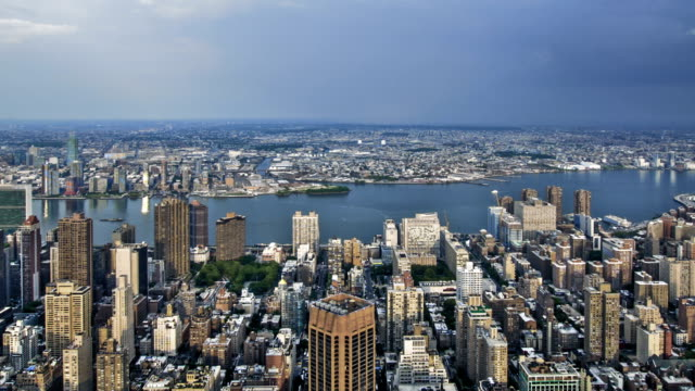 Aerial View New York City Skyline NYC Tourist Attraction