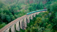 Aerial view Nine Arch Bridge in Sri Lanka