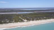 Aerial view of 90 mile Beach and landscape, Victoria, Australia