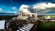 Luftaufnahme eines Kohle gefeuerten Kraftwerk