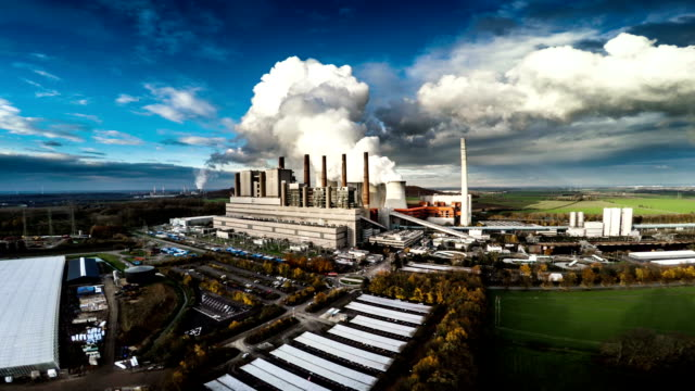 Aerial View of a Coal Fired Power Station