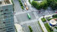T/L LS HA Aerial View of a Crossroad / Shenzhen, China