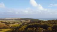 Aerial view of a landscape, in Glenaire, Great Ocean Road, Australia