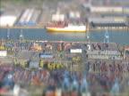 Luftbild von port harbour. NTSC UND PAL