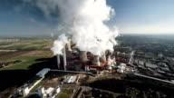 Luftbild von einem Power Station