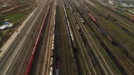 Aerial View of A Railway Shunting Yard