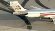 KTLA Aerial View of American Airlines Airplane at LAX