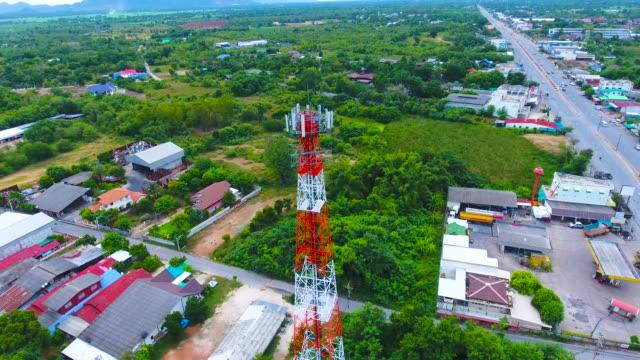 Luftbild der Antenne Aussichtsturm mit Orbit-shot