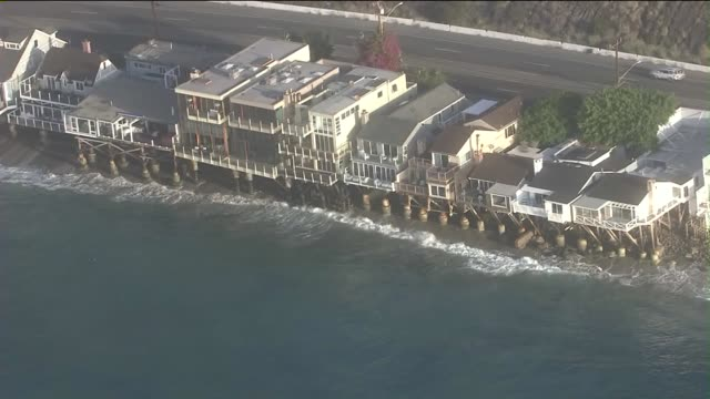 KTLA Aerial View of Beach Houses in Malibu