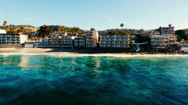 Aerial view of beautiful Laguna Beach in the summer sun