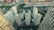 T/L WS HA Aerial view of Beijing CBD area / Beijing, China