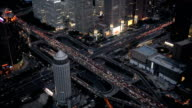 Aerial View of Beijing Road Intersection at Dusk