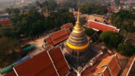 Aerial View of Buddhist Temple