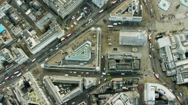 Aerial view of building in English Capital City