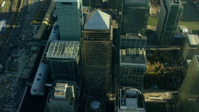 Aerial view of buildings in London City
