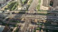 T/L WS HA Aerial View of Busy Overpass / Beijing, China