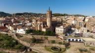 Aerial View of Caldes De Montbui in Barcelona