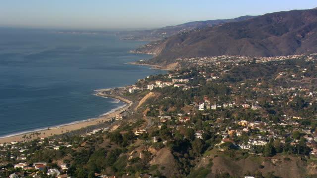 Aerial view of California's Malibu coastline. Shot in 2008.