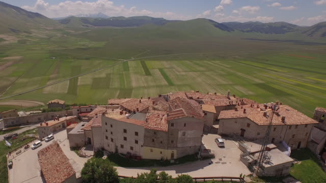 Aerial view of Castelluccio