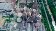 Luftaufnahme der Zementfabrik