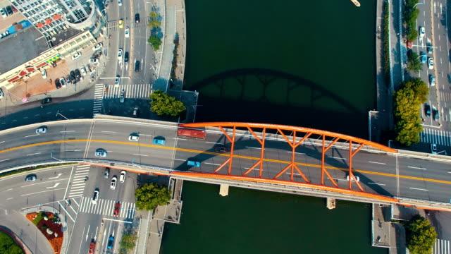 Aerial View of city bridge,Tianjin,China