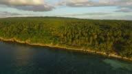 Aerial view of coastline in Camotes, Cebu, Philippines.