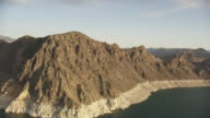 Aerial View Of Colorado River and Mountain Around Hoover Dam