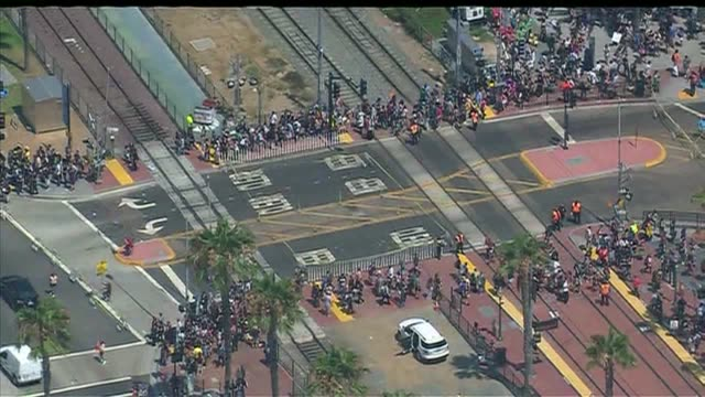 KSWB Aerial View of ComicCon Lines in San Diego on July 9 2015