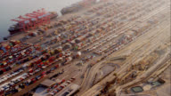 aerial view of container port, RED R3D 4K, 4K, 4KMSTR