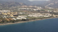 Aerial view of Costa del Sol coastline, Marbella, Andalusia, Spain
