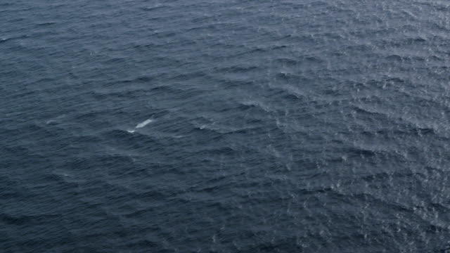 aerial view of deep blue ocean, RED R3D 4k