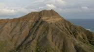 Aerial view of Diamond Head crater in Honolulu, Hawaii.
