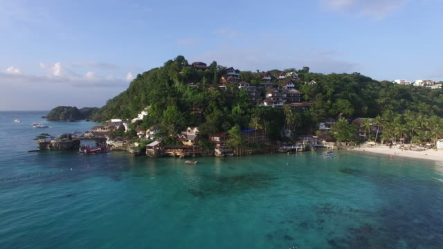 Aerial view of Diniwid beach on Boracay Island