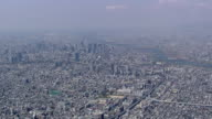 Aerial View Of Downtown Osaka