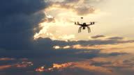 4K Aerial view of drone flying in sky
