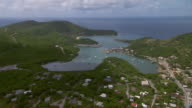 Aerial view of English Harbor in Antigua.