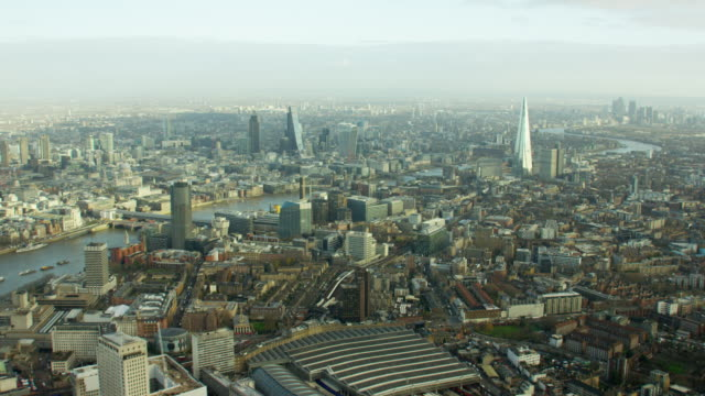 Aerial view of famous tourism sights in London