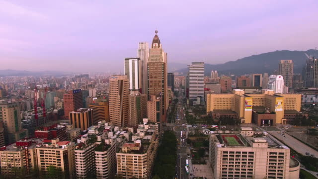 Aerial view of financial district, Taipei, Taiwan
