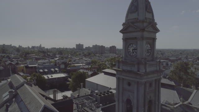 Aerial view of Fitzroy Town Hall, Melbourne Victoria Australia