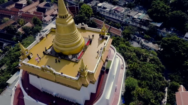 Aerial View of Golden Mount Bangkok Temple