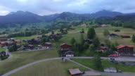 Aerial view of Grindelwald, Alps and it's lodgings