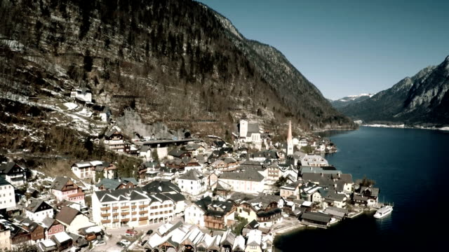Luftbild von Hallstatt village