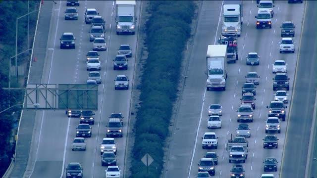 KTLA Aerial view of Holiday Traffic in Los Angeles