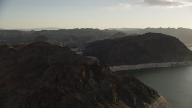 Aerial View Of Hoover Dam Looking Down The Colorado River