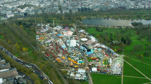 Aerial view of Hyde Park Ferris Wheel London