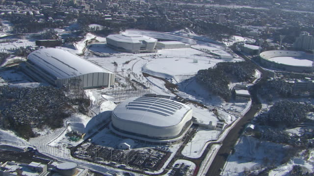 Aerial view of Ice Arena in distance (Stadium for 2018 Winter Olympics)
